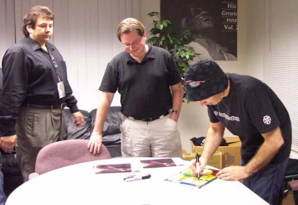 Tommy, Dave, and Joe Satriani