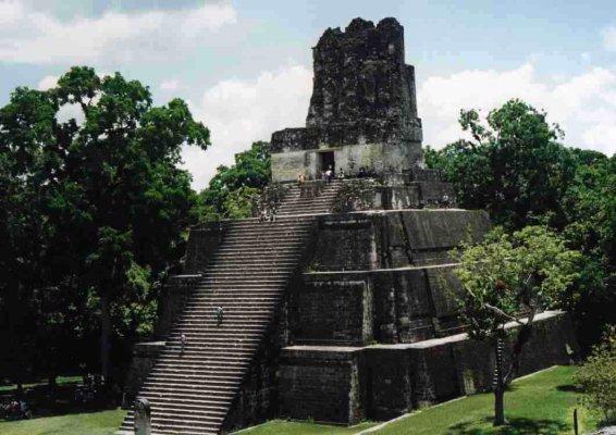 Maya piramide Tikal